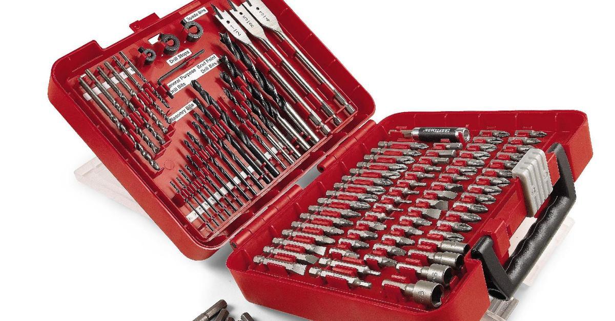 Price drop! Craftsman 100-piece drill bit accessory kit for $15