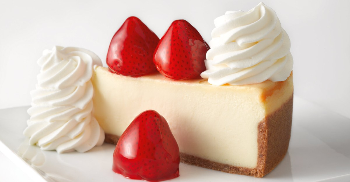 The Cheesecake Factory: Get a FREE slice of cheesecake with $30 order