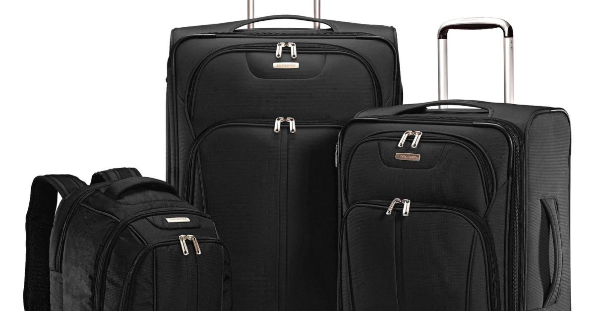 Samsonite Versa-Lite 360 3-piece luggage set for $100