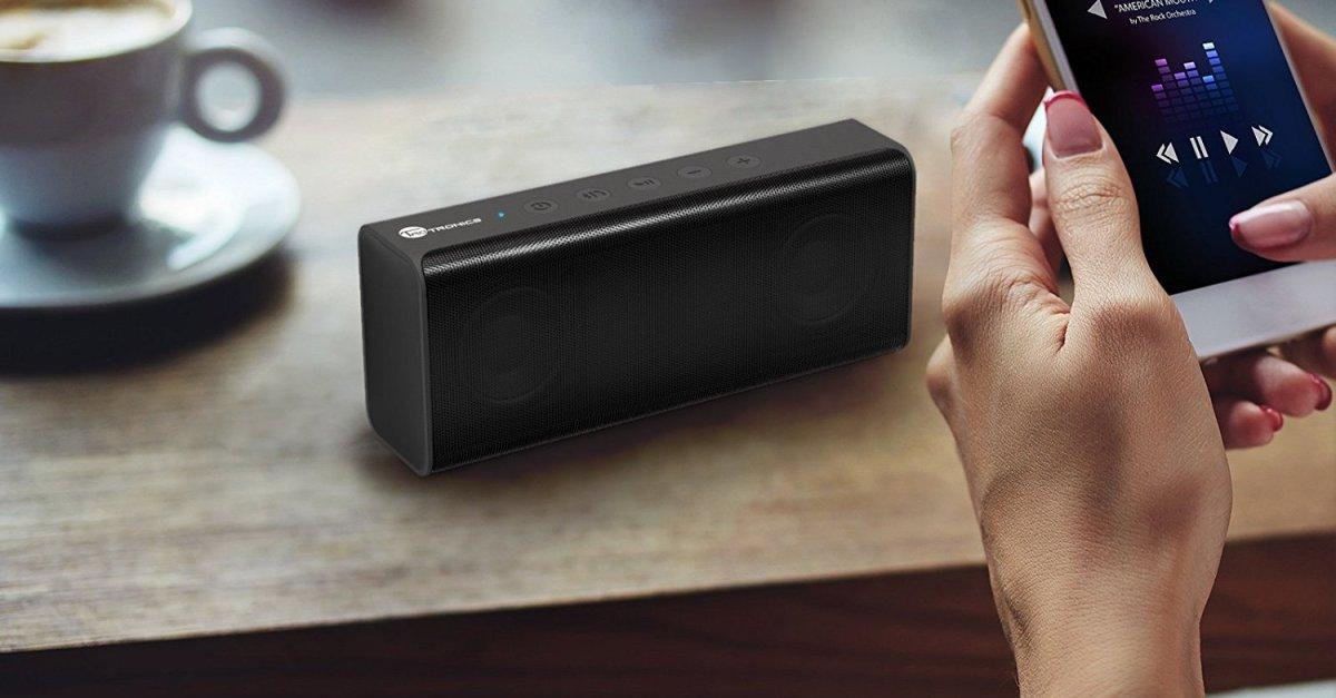 TaoTronics portable Bluetooth speaker for $16