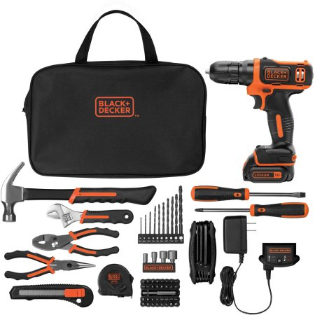 Price drop! Black & Decker 12-volt lithium ion drill with 64-piece kit for $45