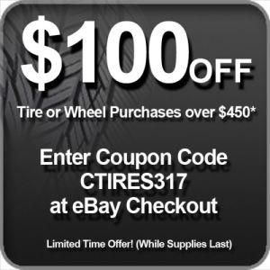 Expires today: Save $100 off $450 or more on Discount Tire