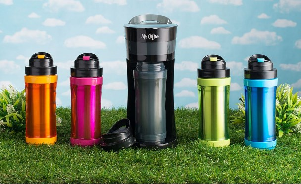 Mr. Coffee® Pour! Brew! Go! Personal coffee maker for $20