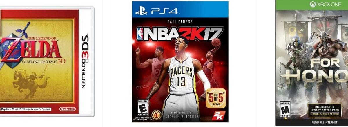Buy 2, get 1 free video games at Target