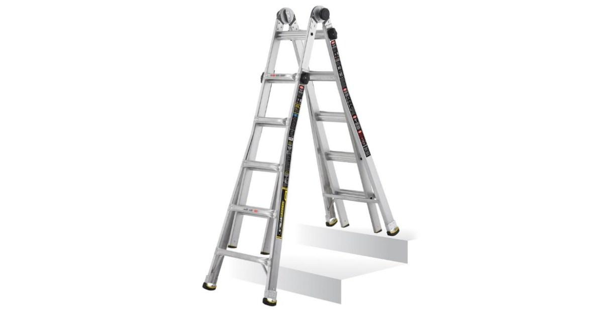 Gorilla 22 Ft Mpx Aluminum Telescoping Multi Position Ladder For 99