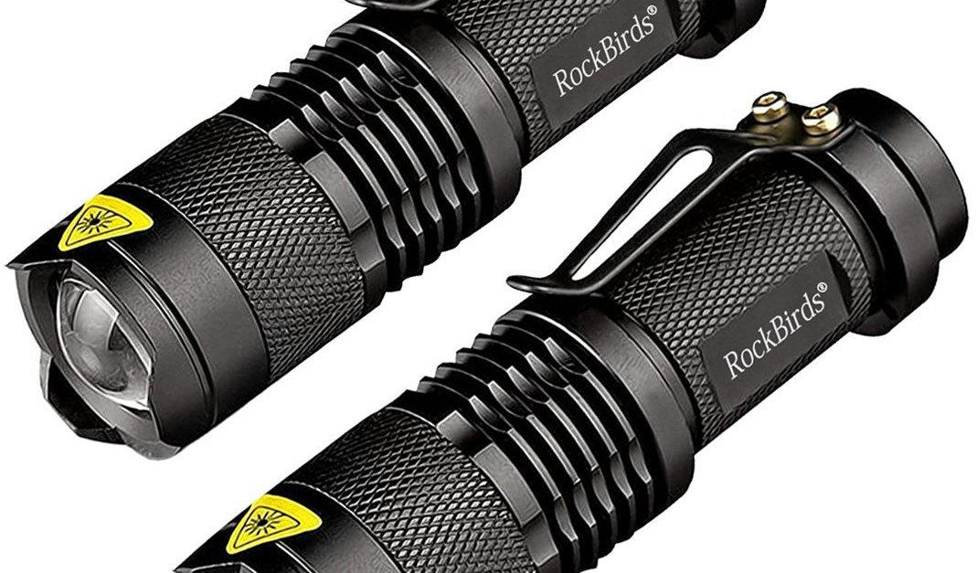 2-pack of Rockbirds super bright LED flashlights for $10