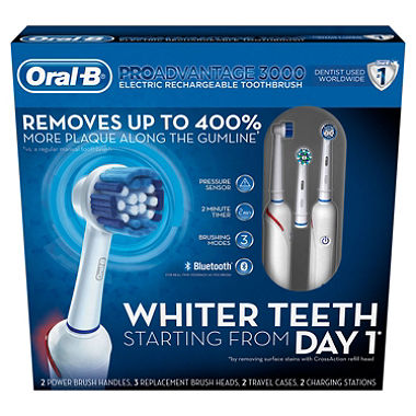 Today only: Save $40 on the Oral-B PROAdvantage 3000 electric toothbrush 2-pack