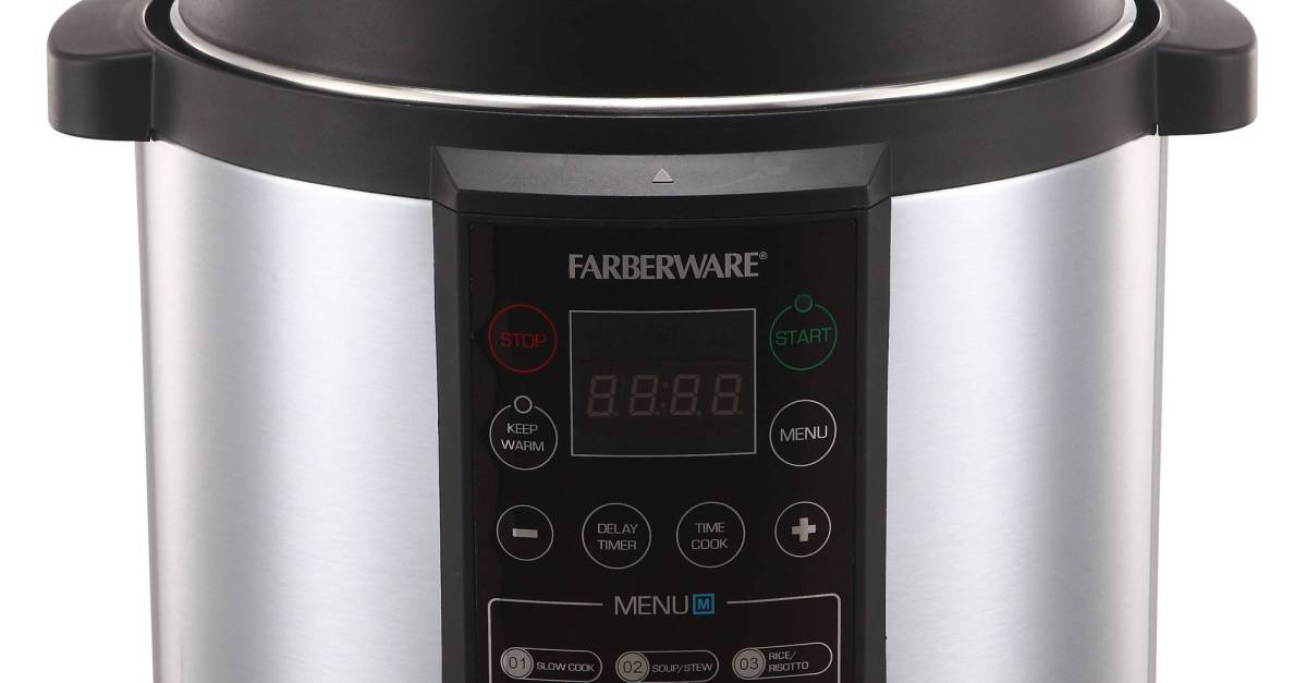 Farberware 6-quart digital pressure cooker for $60