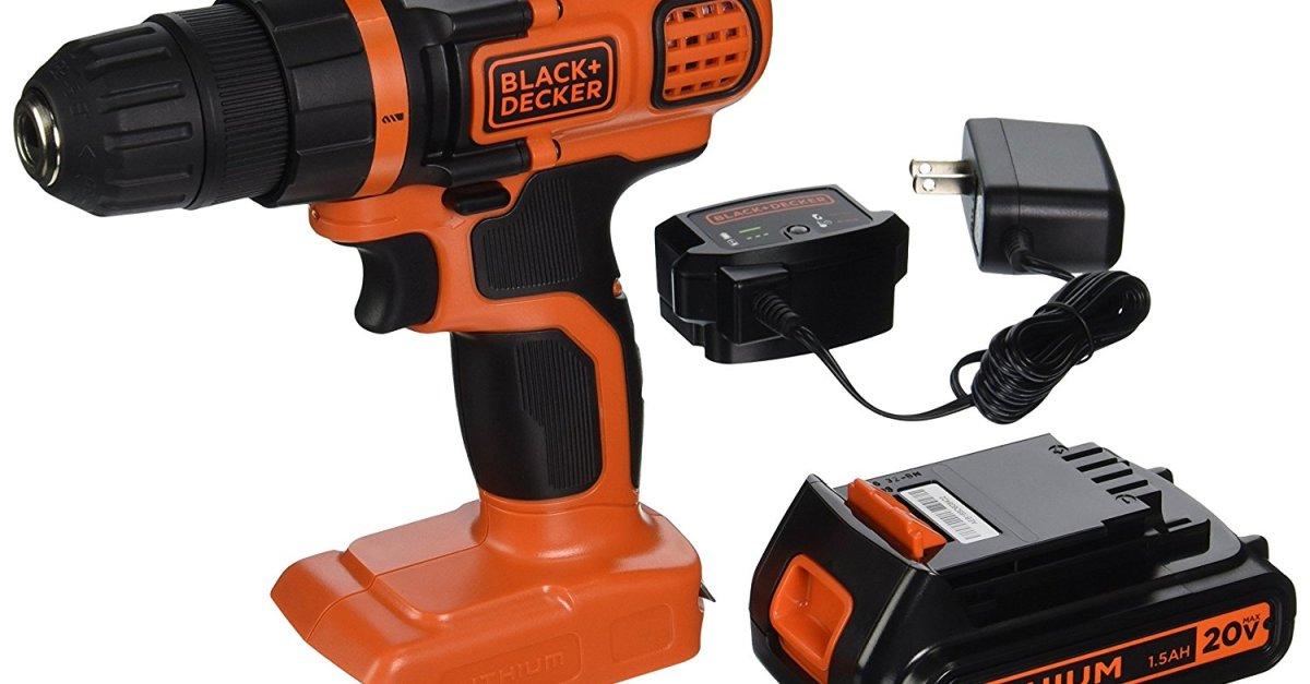Black & Decker 20V max drill/driver for $29
