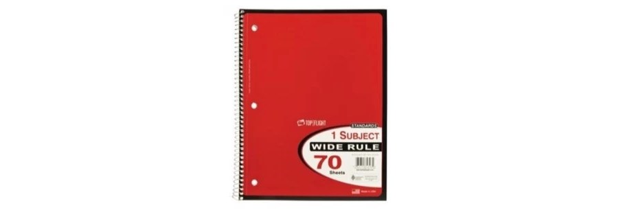 Spiral-bound notebooks for $.17 at Big Lots