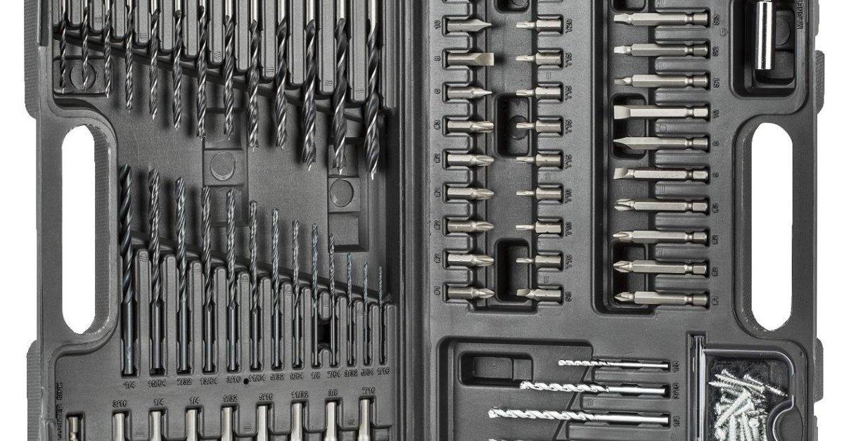 Black & Decker 109-piece drill bit tool kit for $16