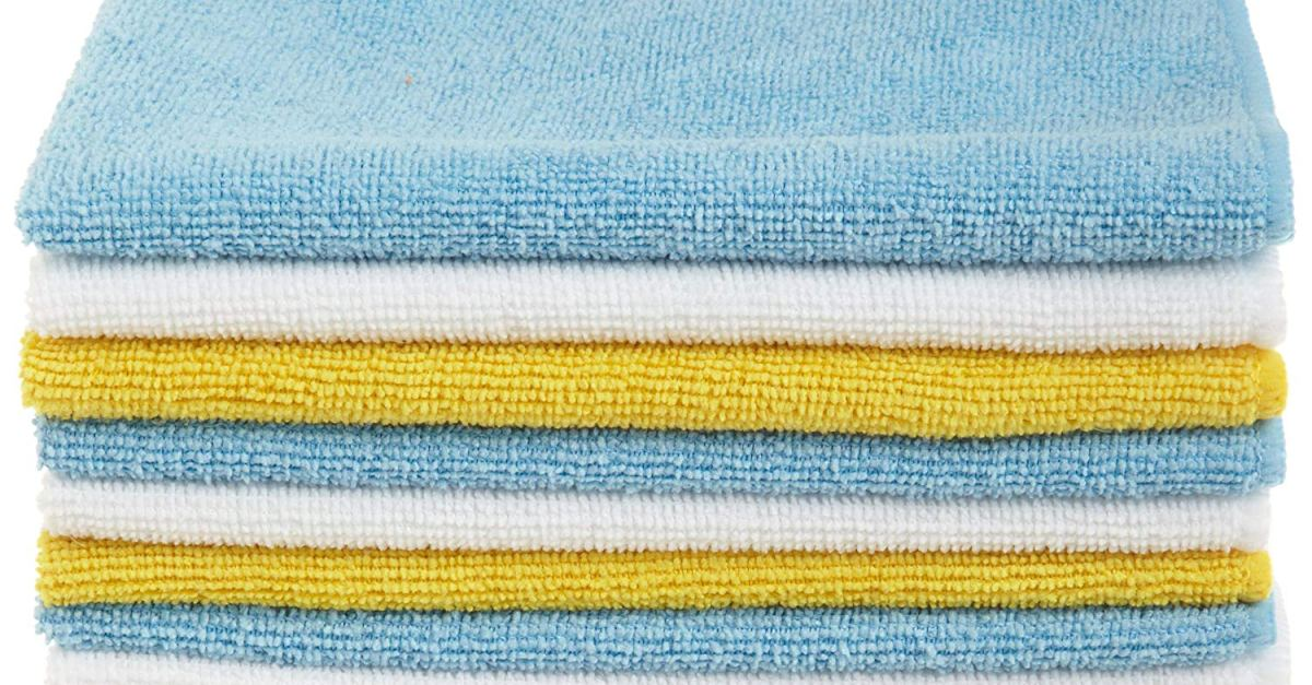AmazonBasics microfiber cleaning cloths 24-pack for $10