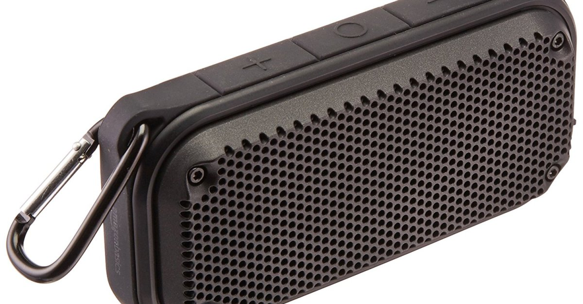 Price drop! AmazonBasics shockproof and waterproof Bluetooth speaker for $11