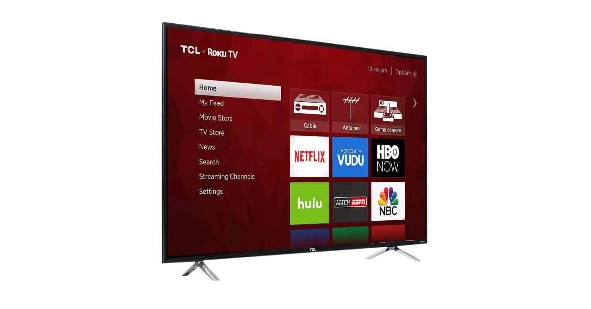 Price drop! TCL 55″ 4K Roku smart TV for $280