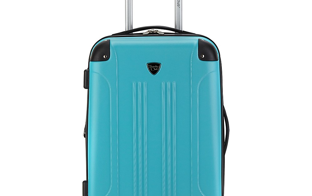Travelers Club 20″ modern hardside expandable carry-on for $38, free shipping