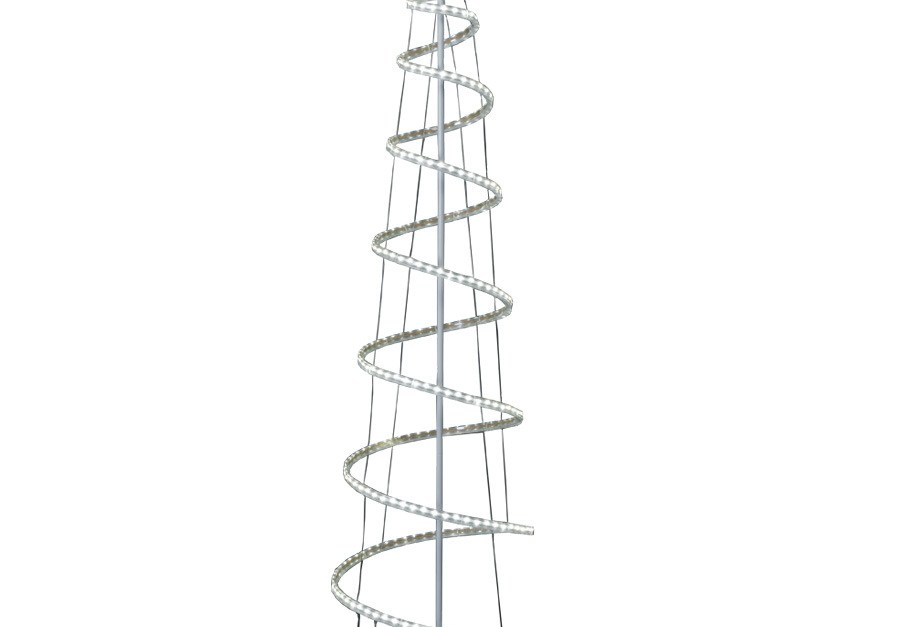GE 7-ft freestanding spiral tree with multi-function LED lights for $39