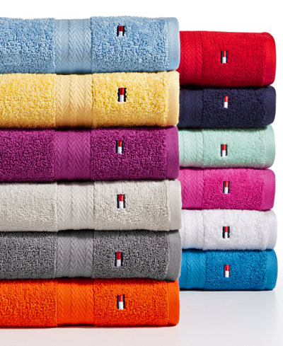 Tommy Hilfiger All American II cotton bath towels from $3