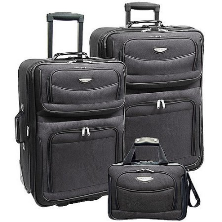 Price drop! Amsterdam 3-piece rolling luggage set for $43