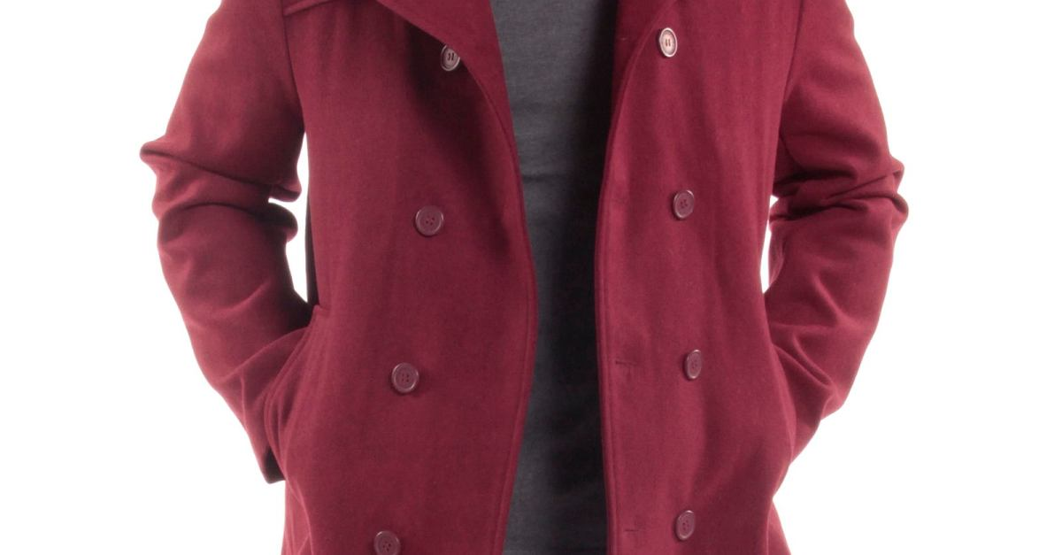 Price drop! Alpine Swiss Jake men's wool blend peacoat for $16 shipped