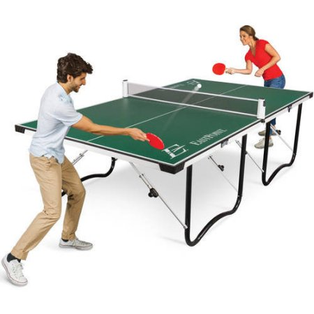 EastPoint Sports easy setup fold 'n store table tennis table for $90