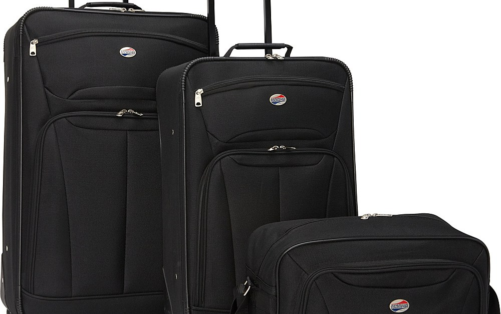 American Tourister Fieldbrook II 3-piece nested luggage set for $55, free shipping