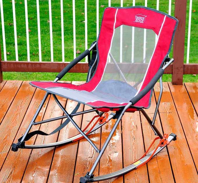 Timber Ridge folding rocker chair for $30