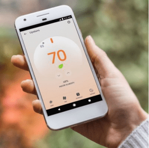 nest thermostat phone
