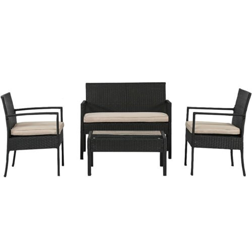 4-piece wicker patio set for $112, free shipping