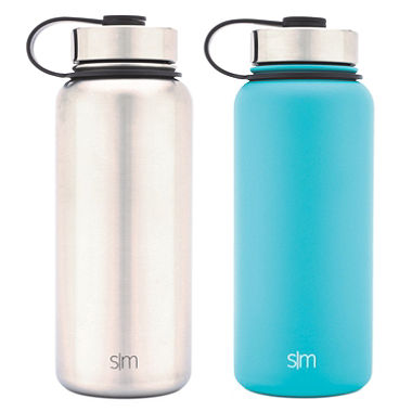 Selling fast! 2-pack Simple Modern 32 oz. vacuum insulated stainless steel water bottles for $7