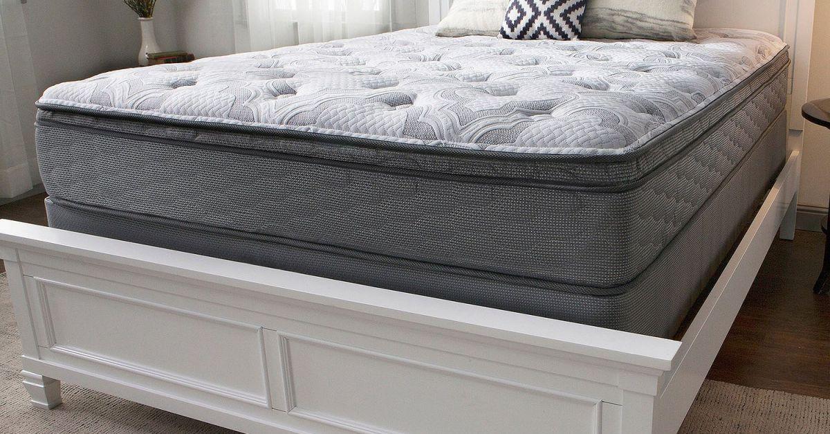 Serta Perfect Sleeper Woodbriar 3 series cushion firm queen mattress set for $398