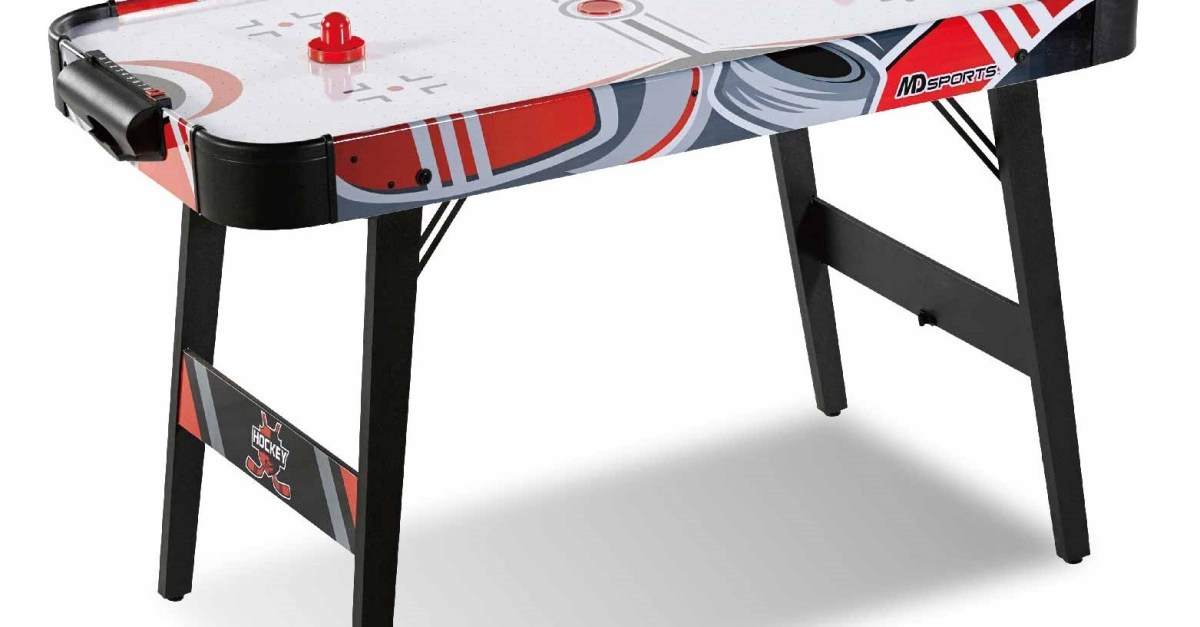 Price drop! MD Sports easy assembly 48-inch air powered hockey table for $10