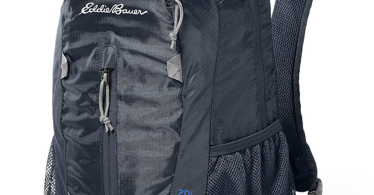 20L Eddie Bauer stowaway packable daypack for $15