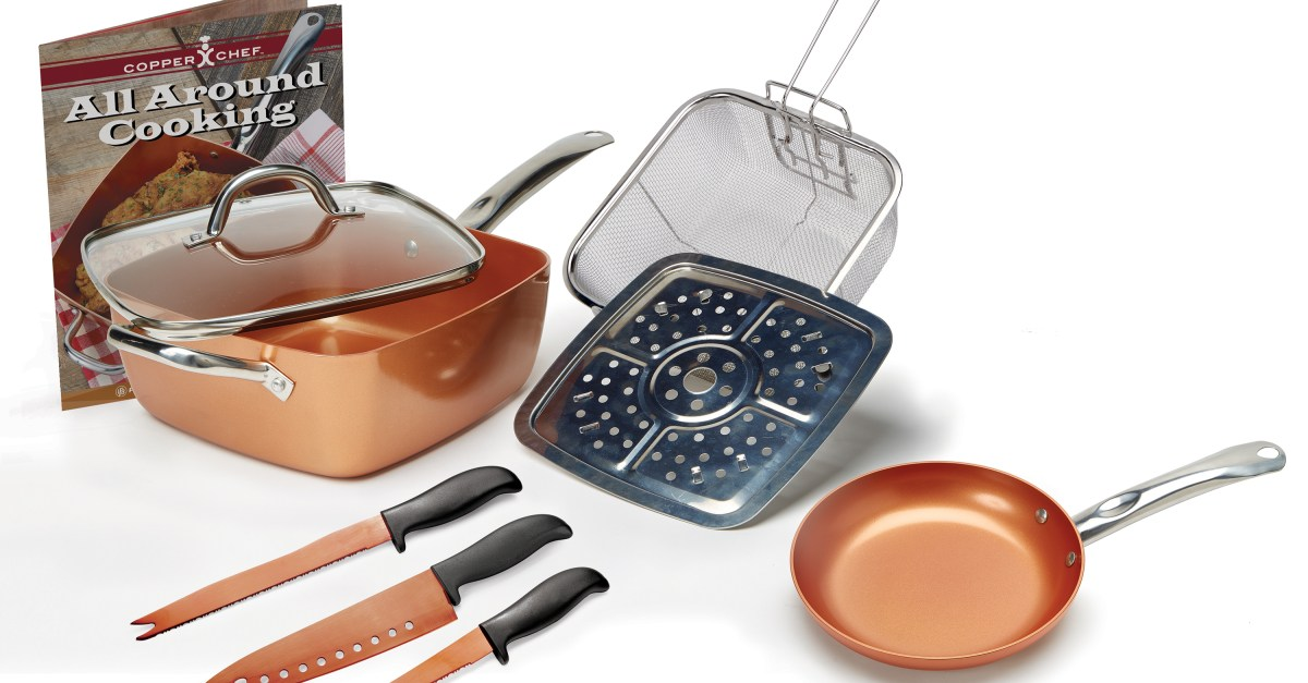 Copper Chef 9-piece pan set for $40, free shipping