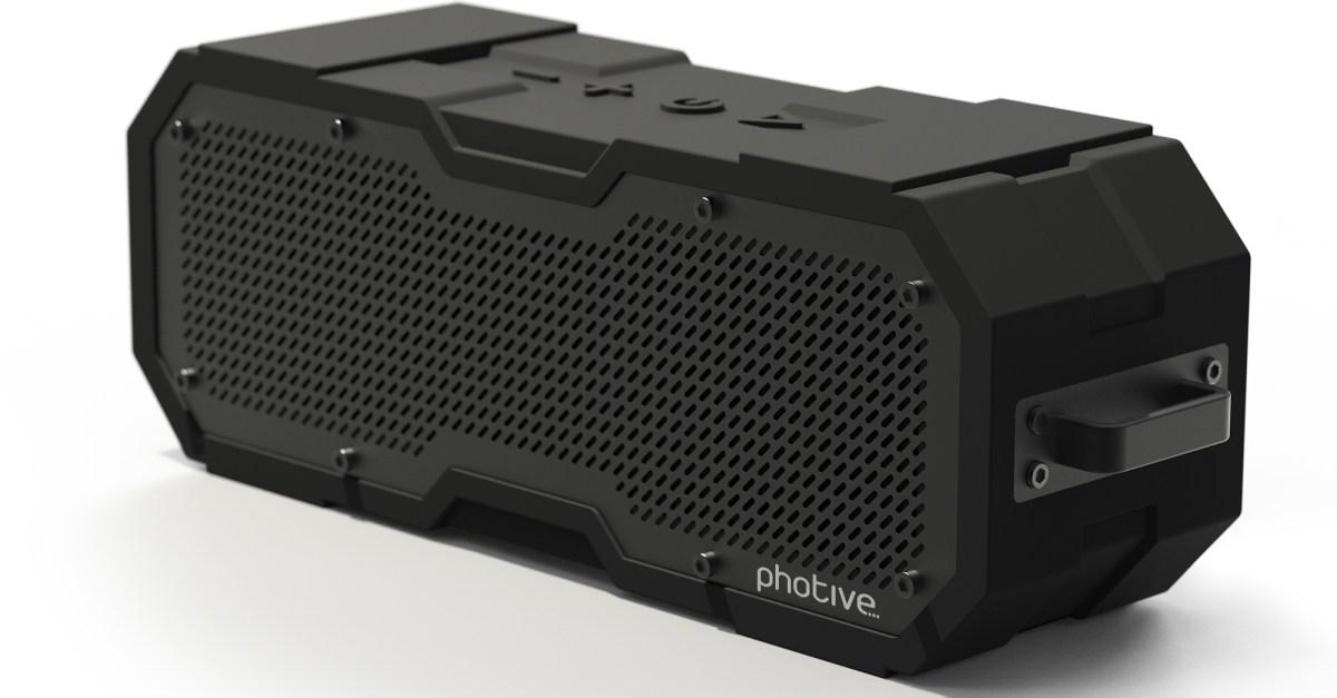 Photive CYREN II portable waterproof Bluetooth speaker for $30