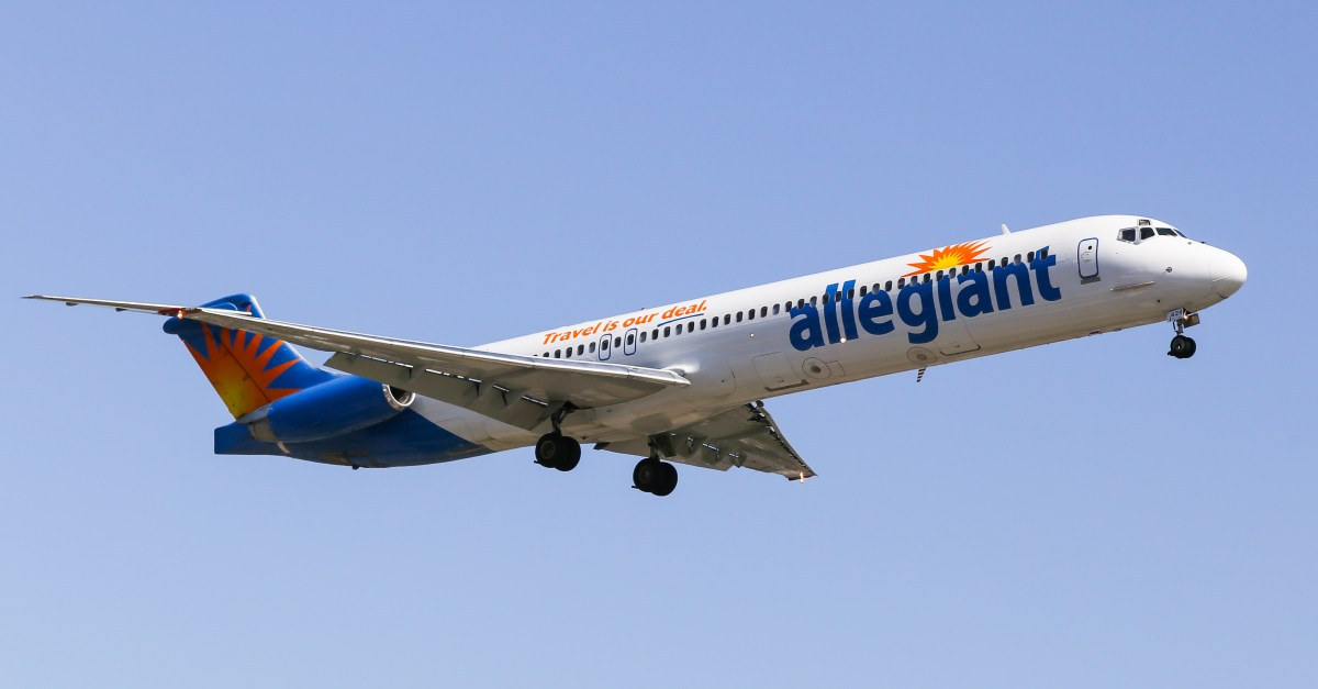 Allegiant fares from $30 one way