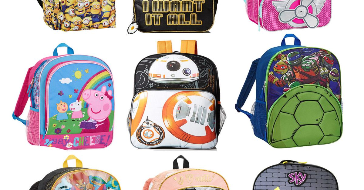 Two 16″ kids backpacks for $7.48 shipped