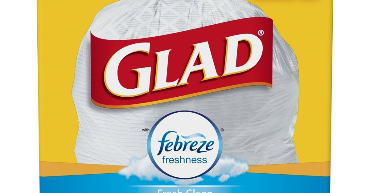 110-count Glad 13-gallon OdorShield tall kitchen drawstring trash bags under $12