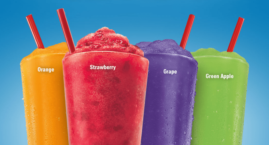 Today only: Get medium Famous or Real Fruit slushes for $0.79 at Sonic