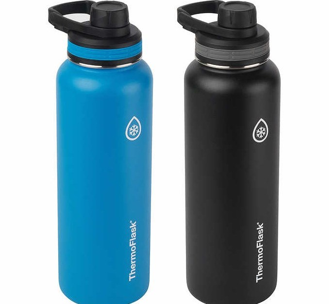 2-pack ThermoFlask 40-oz stainless steel insulated water bottles for $20, free shipping
