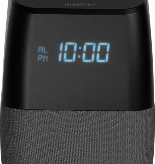 Insignia Voice smart Bluetooth speaker and alarm clock with Google Assistant for $20