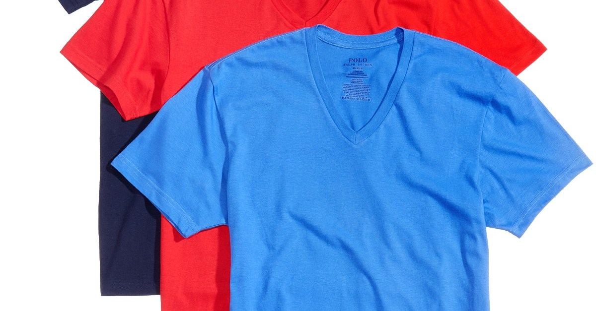 Polo Ralph Lauren men's 3-pack of t-shirts for $21