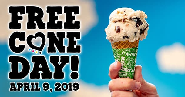 Enjoy FREE Ben and Jerry's ice cream today for Free Cone Day!