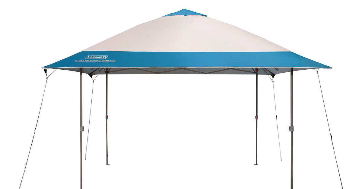 Coleman 13′ x 13′ instant eaved shelter for $100