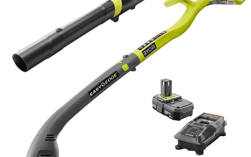 Ryobi One+ 18V lithium ion string trimmer/ edger & blower combo kit for $69