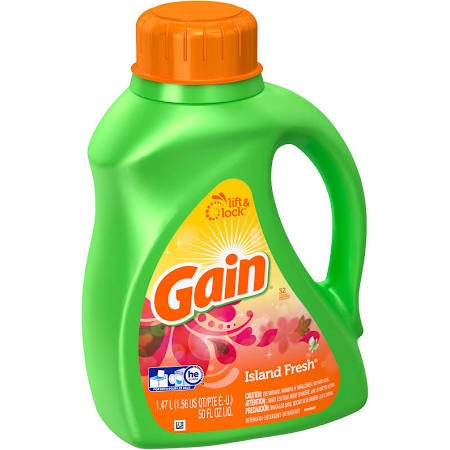 50-oz. Gain high efficiency liquid laundry detergent for $3