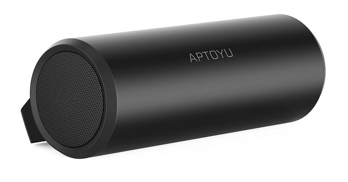 Aptoyu dual-driver Bluetooth speaker with mic for $10
