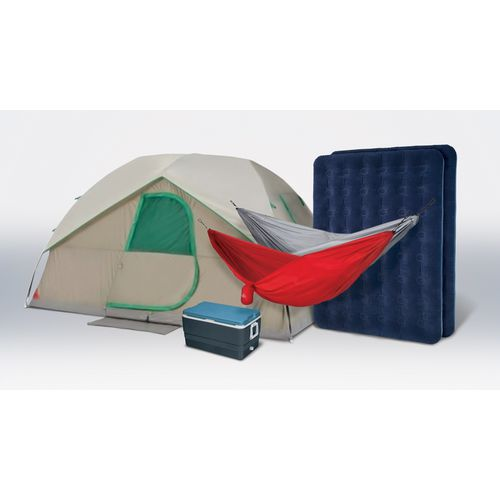 Magellan Outdoors camping kit with cooler, tent, 2 air beds and 2 hammocks for $159