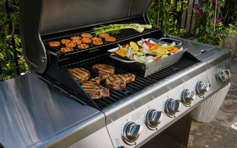 Nexgrill 5-burner propane gas grill for $150 at The Home Depot
