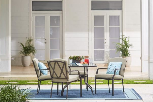 Hampton Bay Bradley 5 Piece Outdoor Dining Set With Cushions For $149, Free  Store