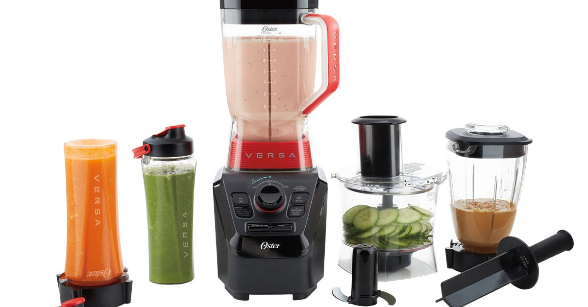 Oster Versa Pro Series blender with food processor and smoothie cups for $130